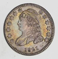 1821 CAPPED BUST DIME - SMALL DATE - NEAR UNCIRCULATED 7469