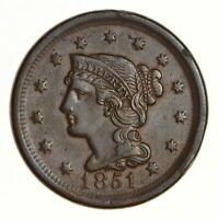 1851 BRAIDED HAIR LARGE CENT - NEAR UNCIRCULATED 5322