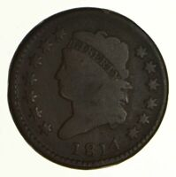 1814 CLASSIC HEAD LARGE CENT - PLAIN 4 - CIRCULATED 6922