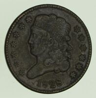 1828 CLASSIC HEAD HALF CENT - CIRCULATED 8684