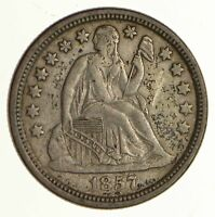 1857 SEATED LIBERTY SILVER DIME - CIRCULATED 6256