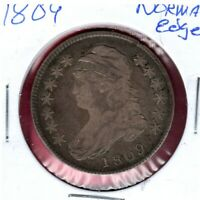 1809 NORMAL EDGE SILVER CAPPED BUST HALF DOLLAR EARLY DATE C2245