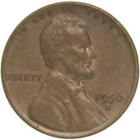 1956 D LINCOLN WHEAT CENT ABOUT UNCIRCULATED PENNY AU