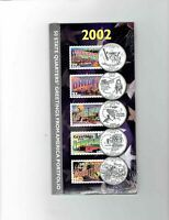 2002 STATE QUARTERS AND POSTAGE STAMPS GREETINGS FROM AMERIC