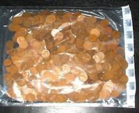 500 - 1930S TO 1950S LINCOLN WHEAT CENT BAG - 500 COIN BAG