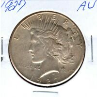 1927 PEACE SILVER DOLLAR GRADES A  ALMOST UNCIRCULATED  LUSTER  C2289