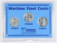 SET OF 3 WARTIME STEAL WHEAT CENTS 1943 P, 1943-D, AND 1943-S