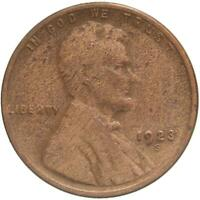 1923 S LINCOLN WHEAT CENT CLEANED FULL WHEAT STALKS A876