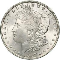 1897 MORGAN SILVER DOLLAR BU US MINT COIN SEE PHOTOS B942