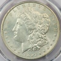 1897-P 1897 MORGAN SILVER DOLLAR PCGS MINT STATE 64