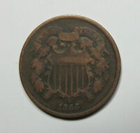1866 TWO CENT PIECE US COIN