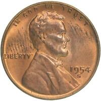 1954 S LINCOLN WHEAT CENT UNCIRCULATED PENNY US COIN
