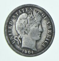 1904 BARBER DIME   CHARLES COIN COLLECTION  499