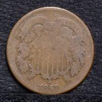 1867 TWO CENT PIECE - AG 25555
