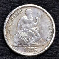 1876-S SEATED LIBERTY DIME - VF DETAILS 25665