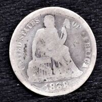 1888 SEATED LIBERTY DIME - VG 25693