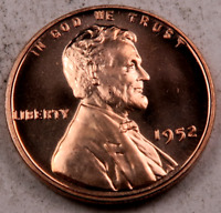 1952 WHEAT CENT  GEM PROOF CAMEO RED  4206
