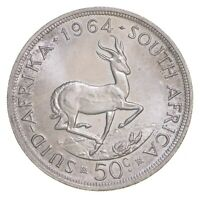 SILVER   WORLD COIN   1964 SOUTH AFRICA 50 CENTS   WORLD SIL