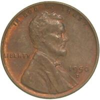 1950 D LINCOLN WHEAT CENT ABOUT UNCIRCULATED PENNY AU