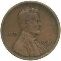 1919 S LINCOLN WHEAT CENT FINE PENNY FN