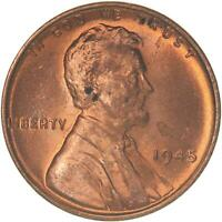 1945 LINCOLN WHEAT CENT UNCIRCULATED PENNY US COIN