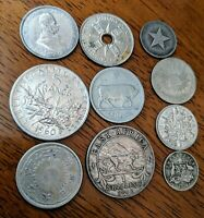 BETTER OLD FOREIGN WORLD COIN LOT: 10 SILVER COINS W/ 1828 Z