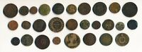 28 OLD FRANCE COINS & A FEW TOKENS/MEDALS  1700S/1800S  SEE