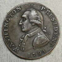 1791 WASHINGTON CENT ELECTROTYPE 19TH CENTURY HIGH GRADE      1011 13