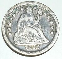 1852 SEATED DIME - EXCELLENT CONDITION
