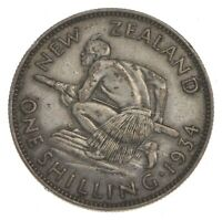 ROUGHLY SIZE OF QUARTER   1934 NEW ZEALAND 1 SHILLING   WORL