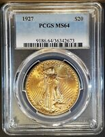 1927 $20 SAINT GAUDENS GOLD DOUBLE EAGLE PCGS MS64