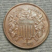 NICE 1868 TWO CENTS COIN/PIECE