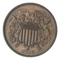 1868 TWO-CENT PIECE - UNCIRCULATED 0196