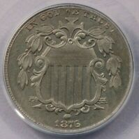 1876 SHIELD NICKEL 5C PCGS MINT STATE 63 REALLY COOL COIN