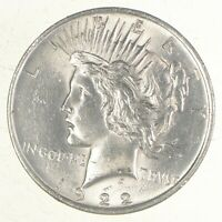 CHOICE AU/UNC 1922 PEACE US SILVER DOLLAR   90  SILVER   PHILADELPHIA MINTED