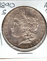 1890-S MORGAN DOLLAR A SLIDER BU COIN..HIGH END AU BUY TODAY C247