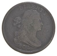1804 DRAPED BUST HALF CENT   DAVIS COIN COLLECTION  229