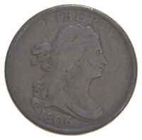 1806 DRAPED BUST HALF CENT   DAVIS COIN COLLECTION  227