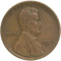 1936 S LINCOLN WHEAT CENT FINE PENNY FN