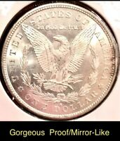 1879 S BU MS SPECTACULAR MORGAN SILVER DOLLAR ESTATE VAM? PROOF/LIKE