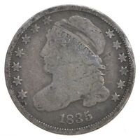 EARLY   1835   CAPPED BUST DIME   EAGLE REVERSE   TOUGH   US