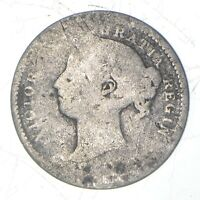 ROUGHLY SIZE OF DIME 1800S CANADA 10 CENTS   WORLD SILVER CO