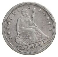 1854 SEATED LIBERTY QUARTER   LEGACY COIN COLLECTION  882