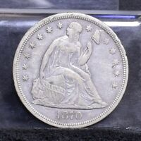 1870 LIBERTY SEATED DOLLAR - VF DETAILS 26737