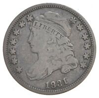 1831 CAPPED BUST DIME   DAVIS COIN COLLECTION  254