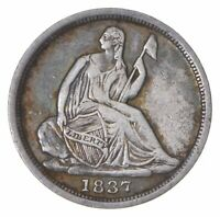 1837 SEATED LIBERTY HALF DIME   LEGACY COIN COLLECTION  673