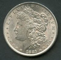 UNITED STATES 1881  MORGAN SILVER DOLLAR  YOU DO THE GRADING HAVE FUN