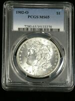 1902-O MORGAN DOLLAR PCGS MINT STATE 65 BLAST WHITE WITH SUPERB FROSTY LUSTER, PQ G768