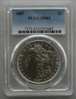 1887 P PCGS MINT STATE 63 VAM 27  FAR DATE