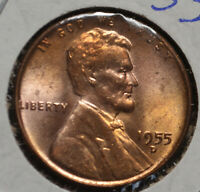 1955-D LINCOLN CENT - UNC WITH TONING 16